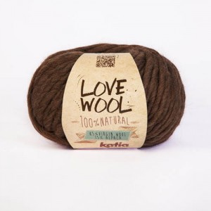 Katia Love Wool - brąz - 104