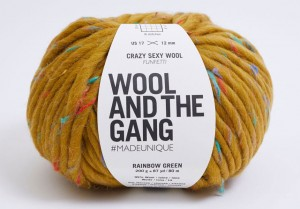 WATG - Crazy Sexy Wool - Funfetti Rainbow Green