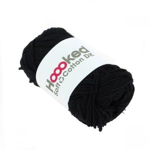 Hoooked Soft Cotton Dk - Boston Black