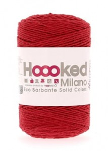 Hoooked Eco Barbante  - Ruby - 200g