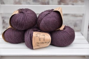 Eden Cottage Yarns Milburn 4ply - Black Tulip